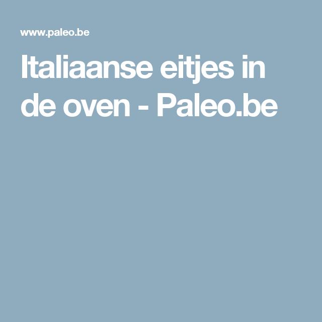 Italiaanse eitjes in de oven - Paleo.be