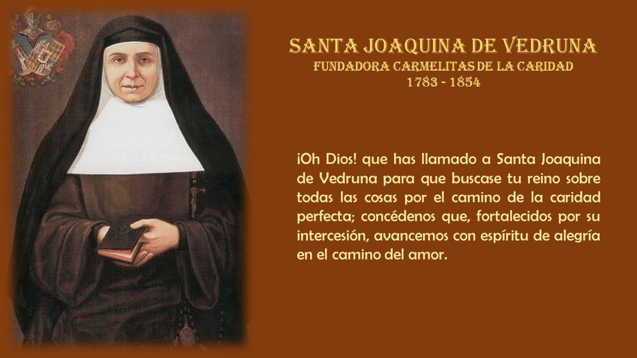 Santa Joaquina De Vedruna Fundadora De Las Carmelitas De La