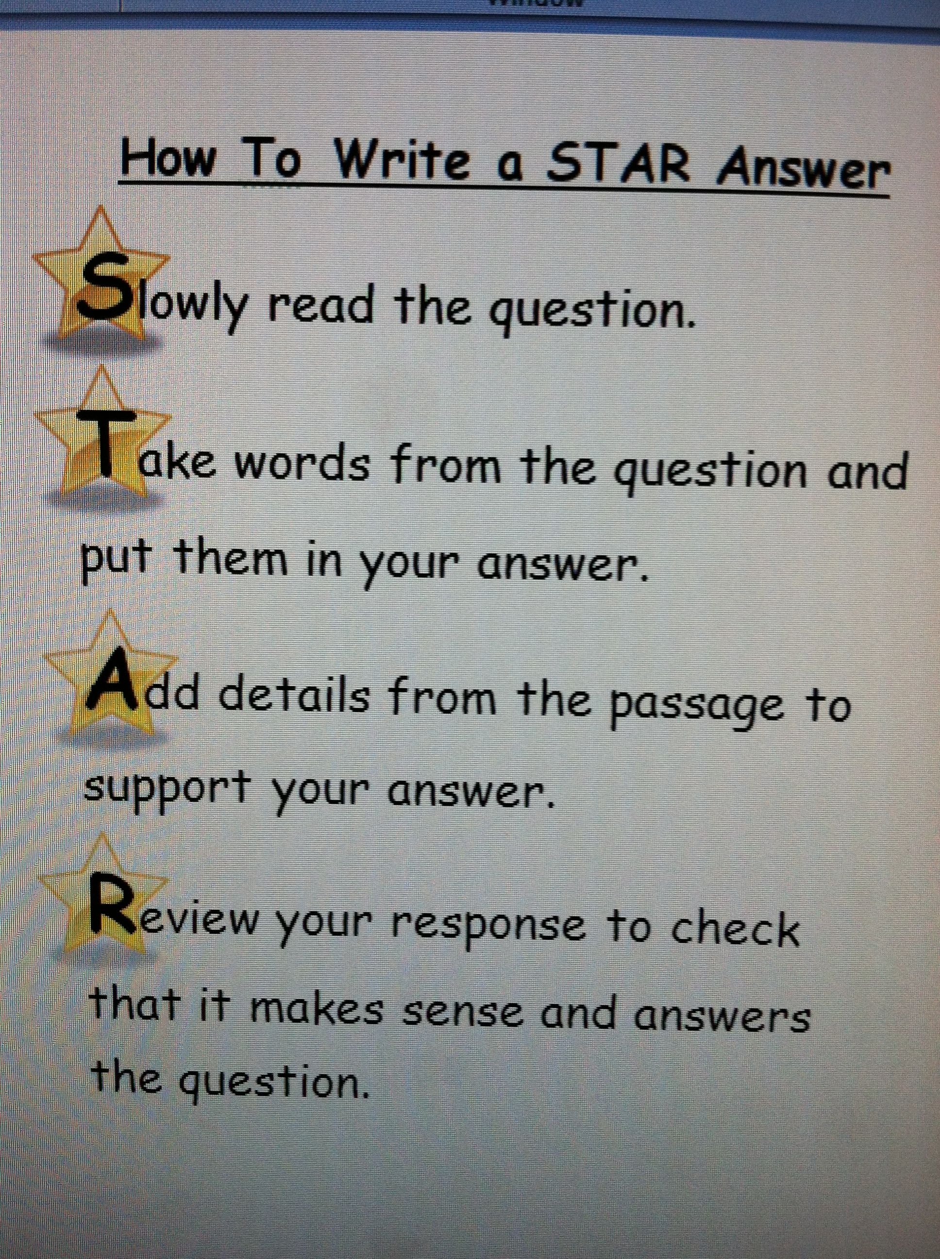 i created this to help my students writing answers to i created this to help my students writing answers to constructed response questions click photo for word file this will tie in great my star