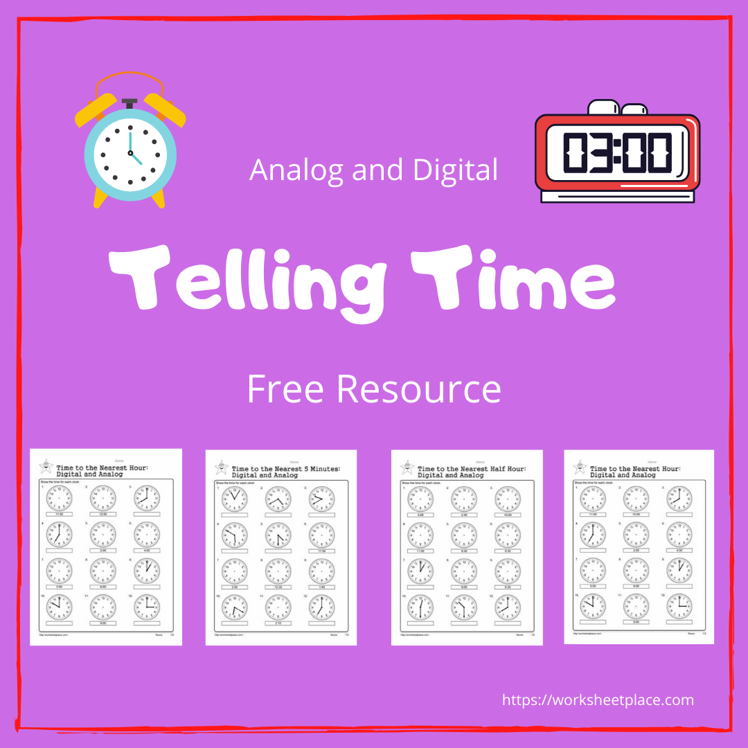 Telling Time Printables Children Should Learnog And