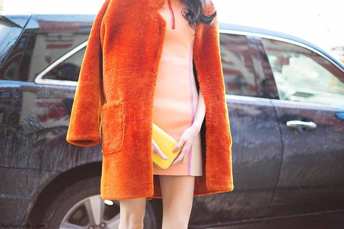 Orange winter coat