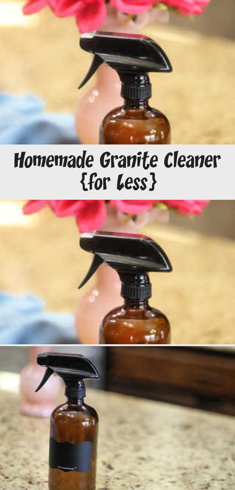 Homemade Granite Cleaner For Less In 2020 Homemade Granite