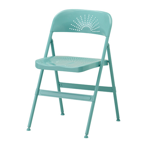 FRODE Folding chair IKEA Folds flat to save space when not in use. Shaped back and scooped seat for enhanced seating comfort.  sc 1 st  Pinterest & FRODE Folding chair turquoise | IKEA | Pinterest | Folding chairs ...
