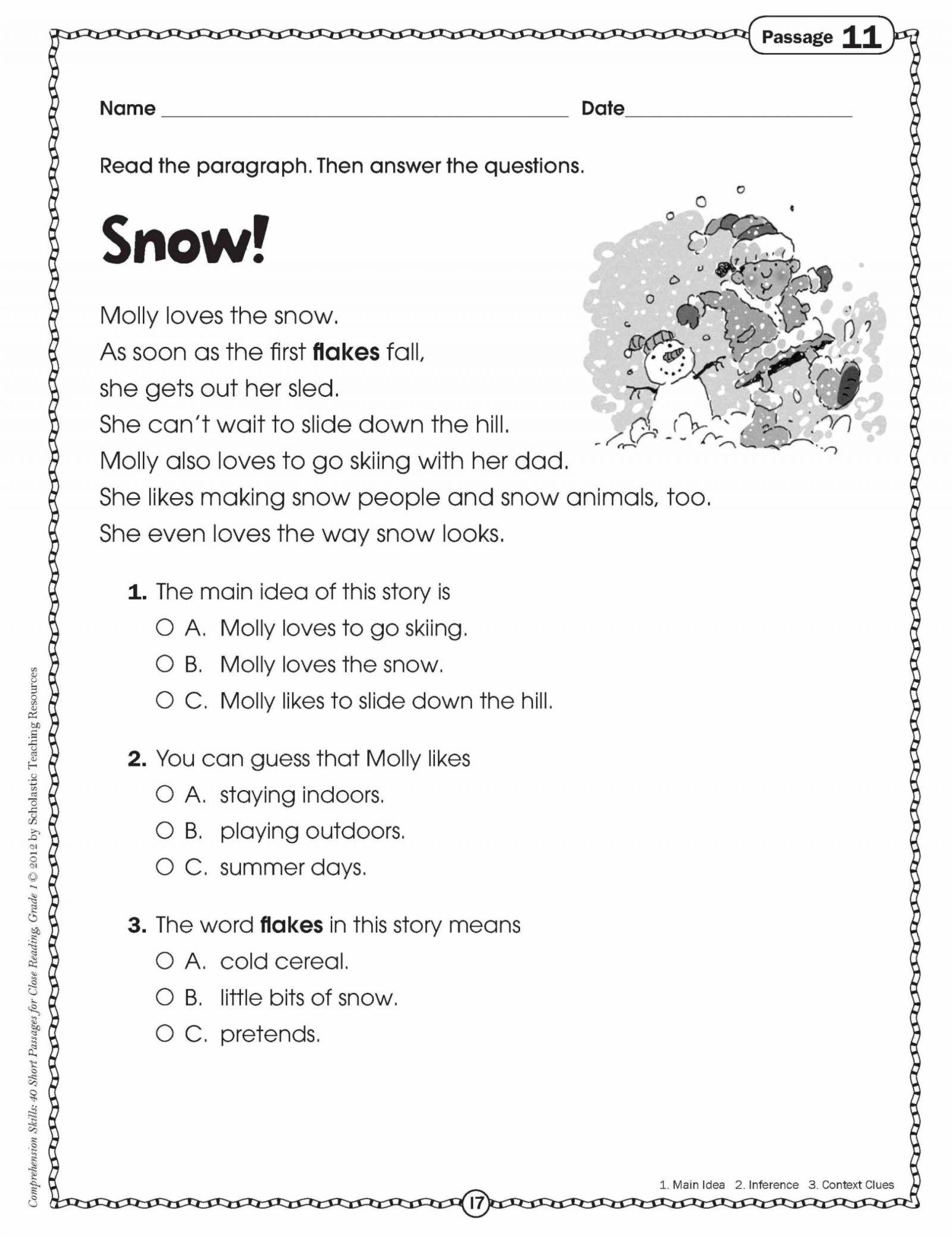 11 Classified Main Idea Multiple Choice Worksheets Di