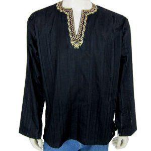 Mens Long Sleeve Casual Cotton Shirt Kurta India (Apparel)  http://www.foxy-fashion.com/Johns-Amazon.php?p=B007CTT0JE