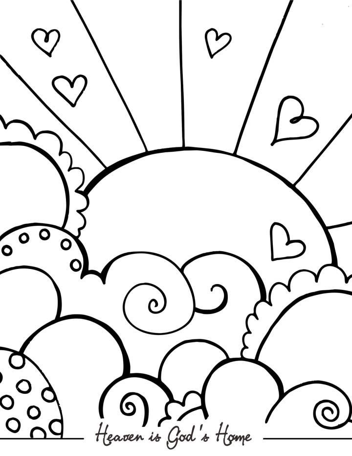 Bible Coloring Pages for Sunday