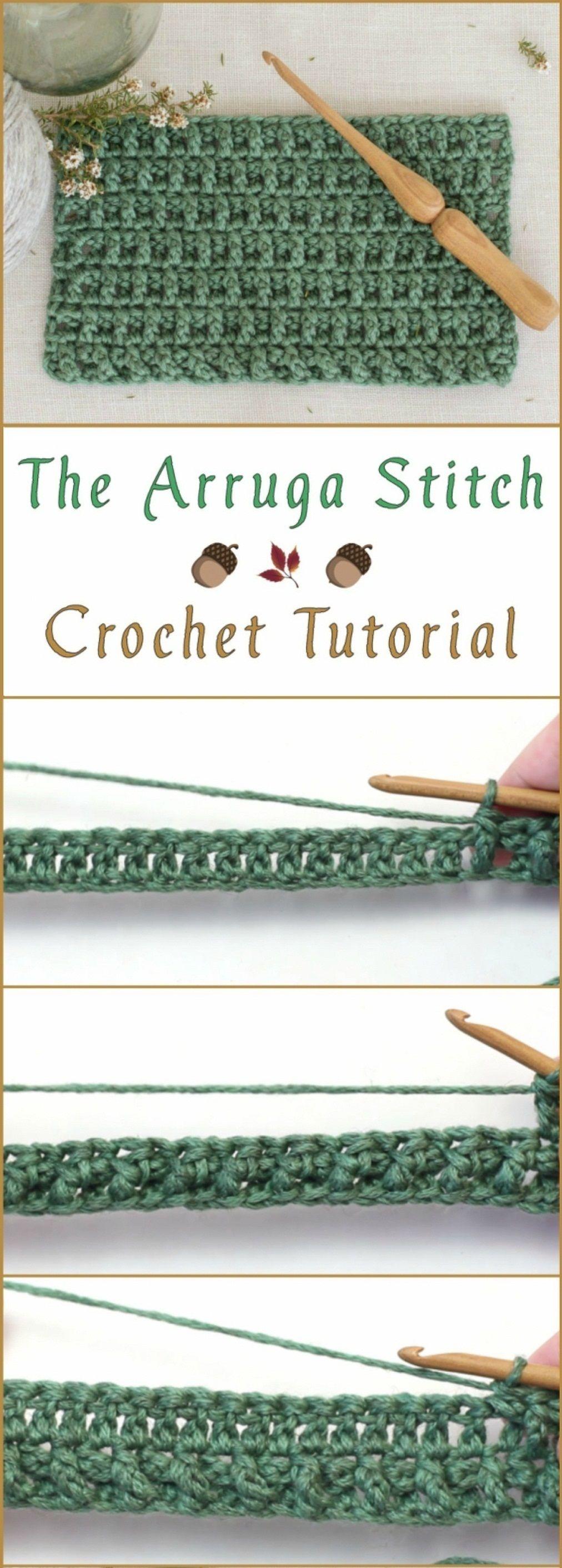 The Arruga Stitch Crochet Tutorial | Crochet love | Pinterest ...
