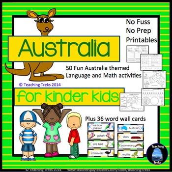 Australia Activities For Kindergarten Australian Animals And More