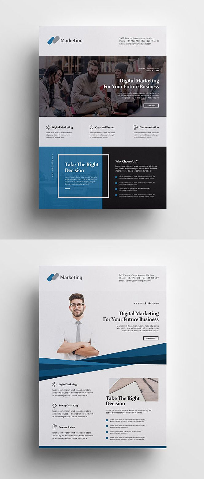 Creative and Minimalist Business Flyer Template PSD | Flyer ...