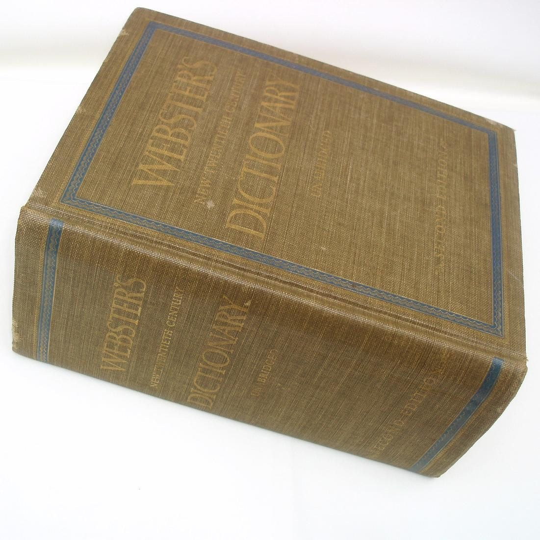 antique dictionary large websters unabridged dictionary brown antique dictionary large websters unabridged dictionary brown green blue decorative book home decor second edition reference book by whimzythyme on etsy