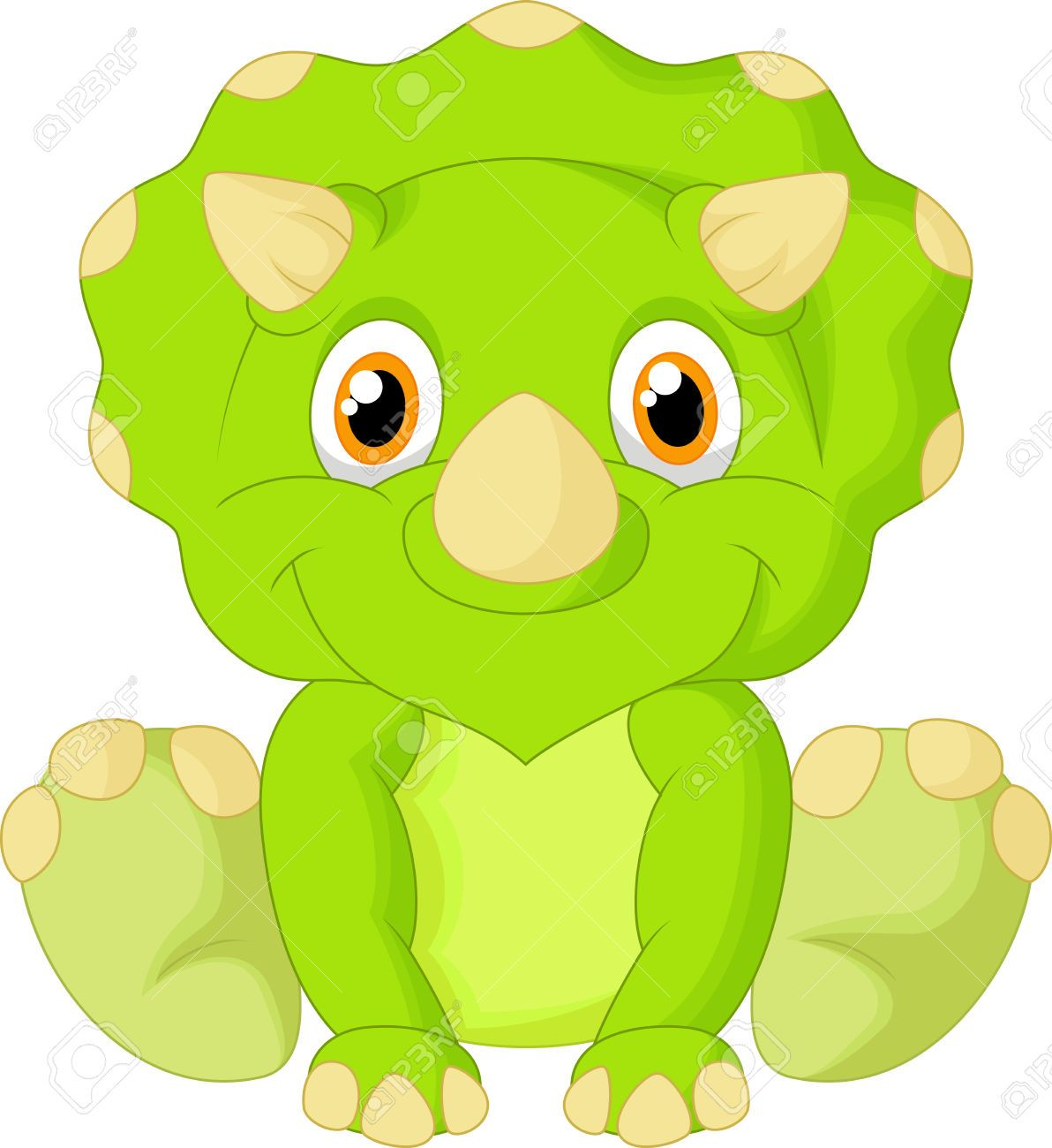 cute triceratops cartoon royalty free cliparts vectors