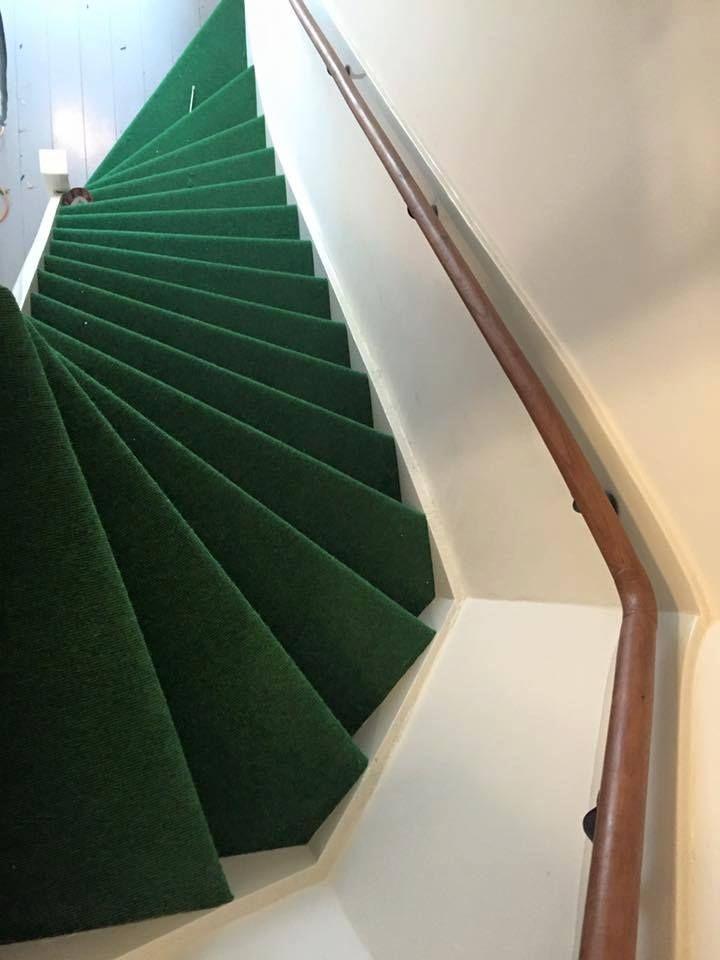 Best Green Stairs Using Tretford Americas Carpet 400 x 300