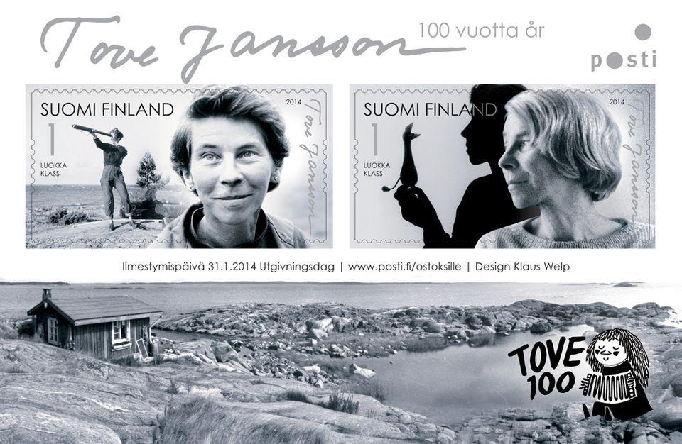 Tove Janssonista kertova postimerkki ilmestyy tammikuussa 2014