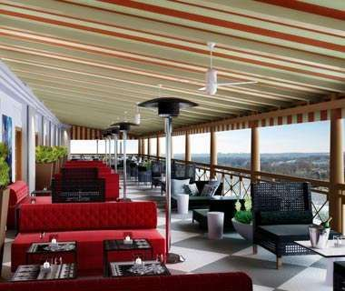 POV W Hotel DC Rooftop Bar With Views Of The White House And Monuments