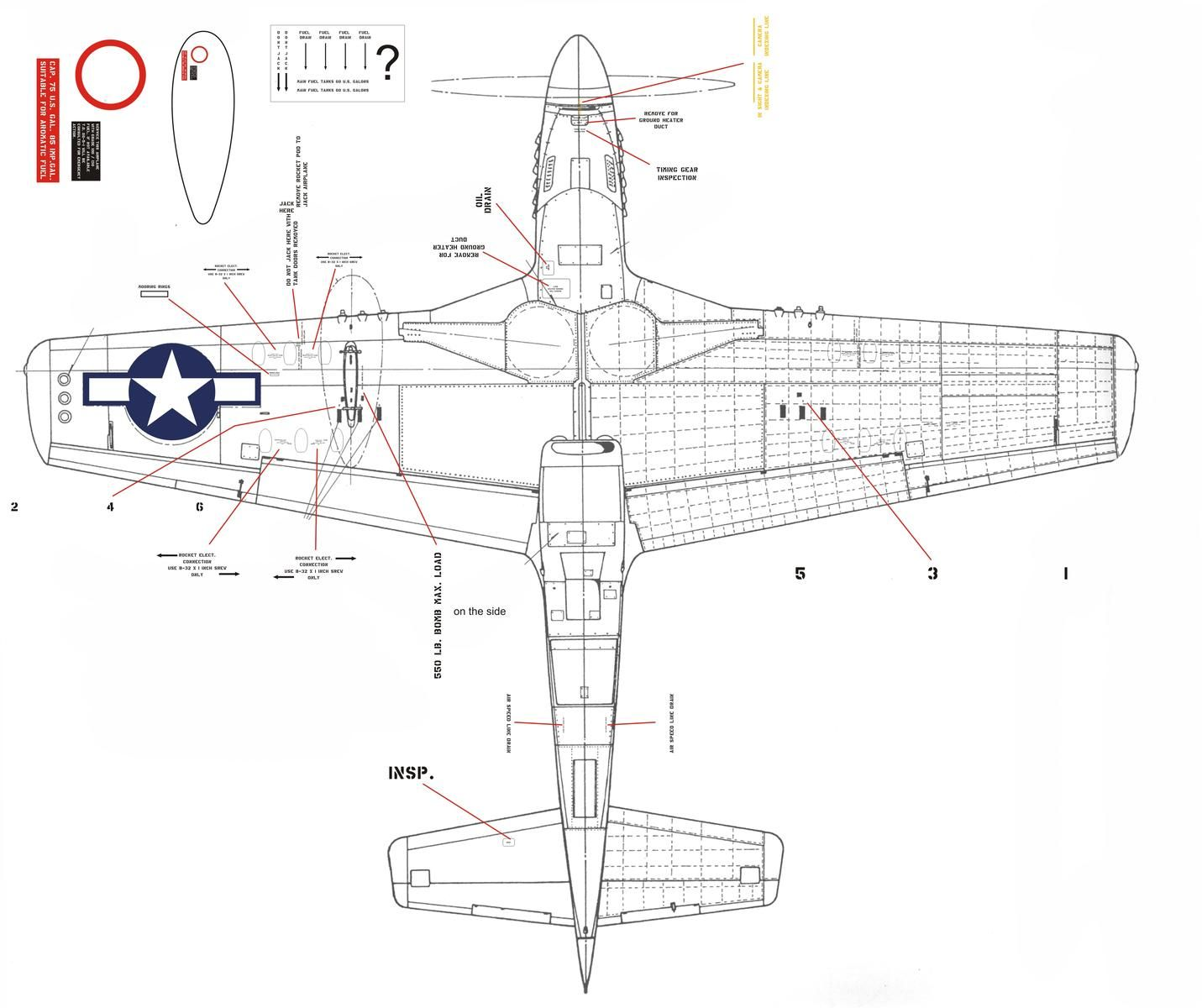 Resultado de imagen de p-51 stencils (avec images)