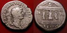 DOMITIAN AR silver cistophorus (cistophoric tetradrachm). Commemorating the restoration of the Temple of Jupiter, Juno & Minerva of the Capitoline (Capitoline Triad).
