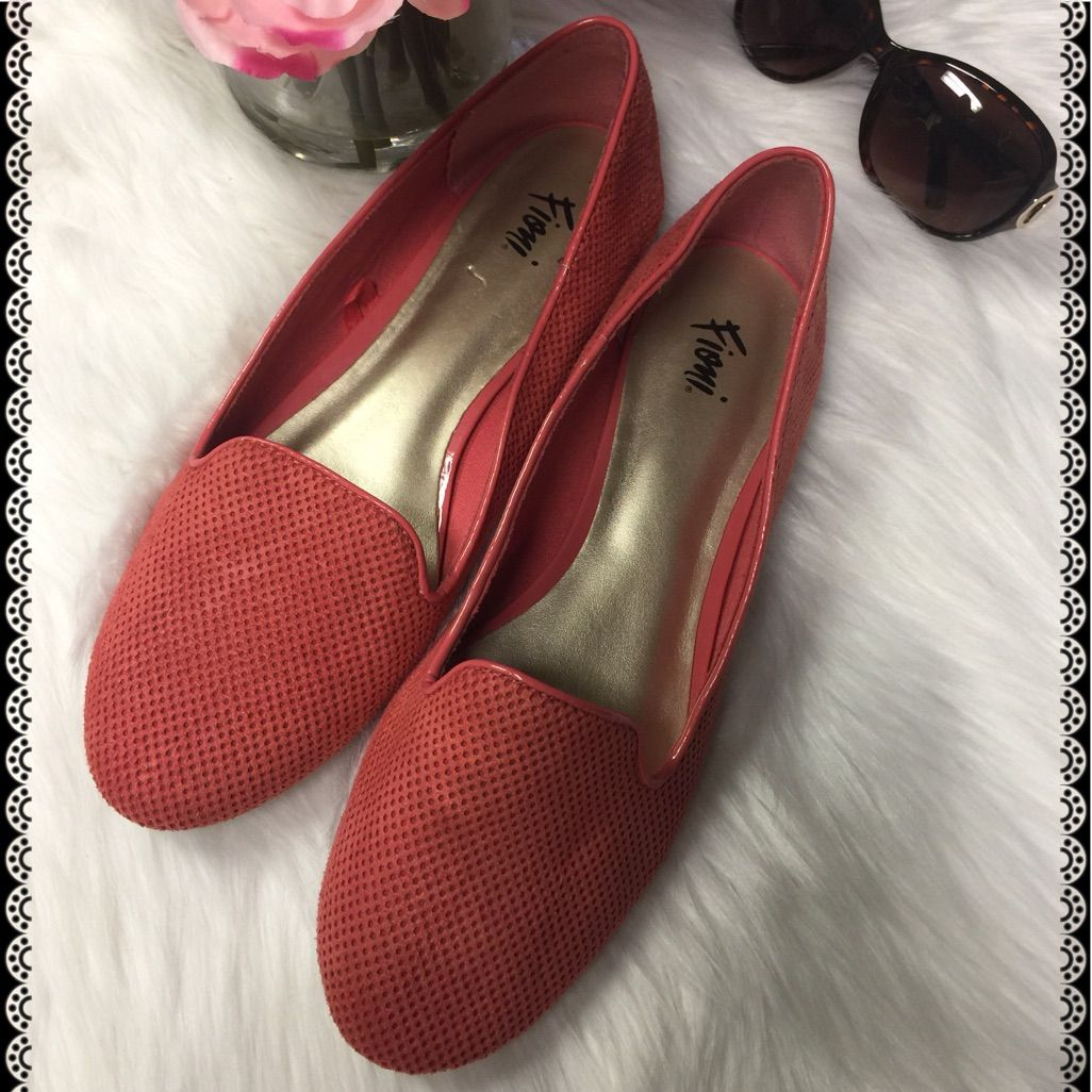 Coral Colored Loafers