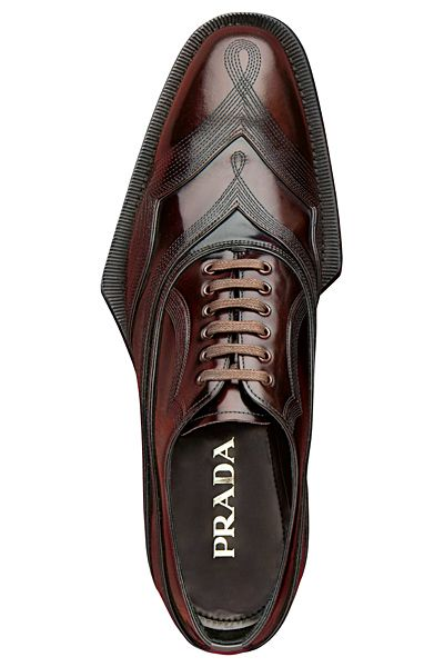 """wholesale dealer 822dd 61d34 definitivemale """"Loved or Hated but never.. Prada - Embroidered Lace-Up. """""""