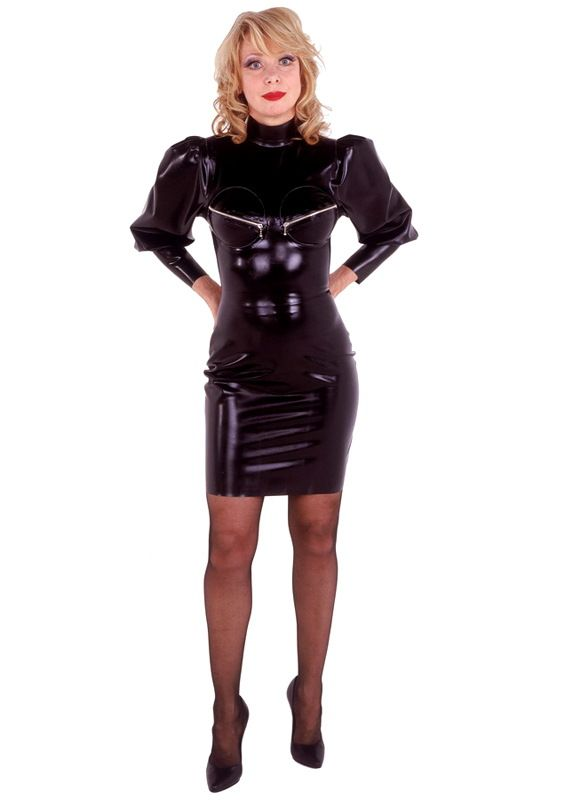 Mistress dress with gathered sleeves zipped bust cups shine on mistress dress with gathered sleeves zipped bust cups ccuart Image collections