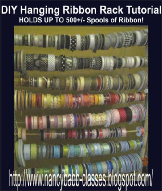 How To Organize Tons Of Ribbon Sewing Organization Diy Ribbon