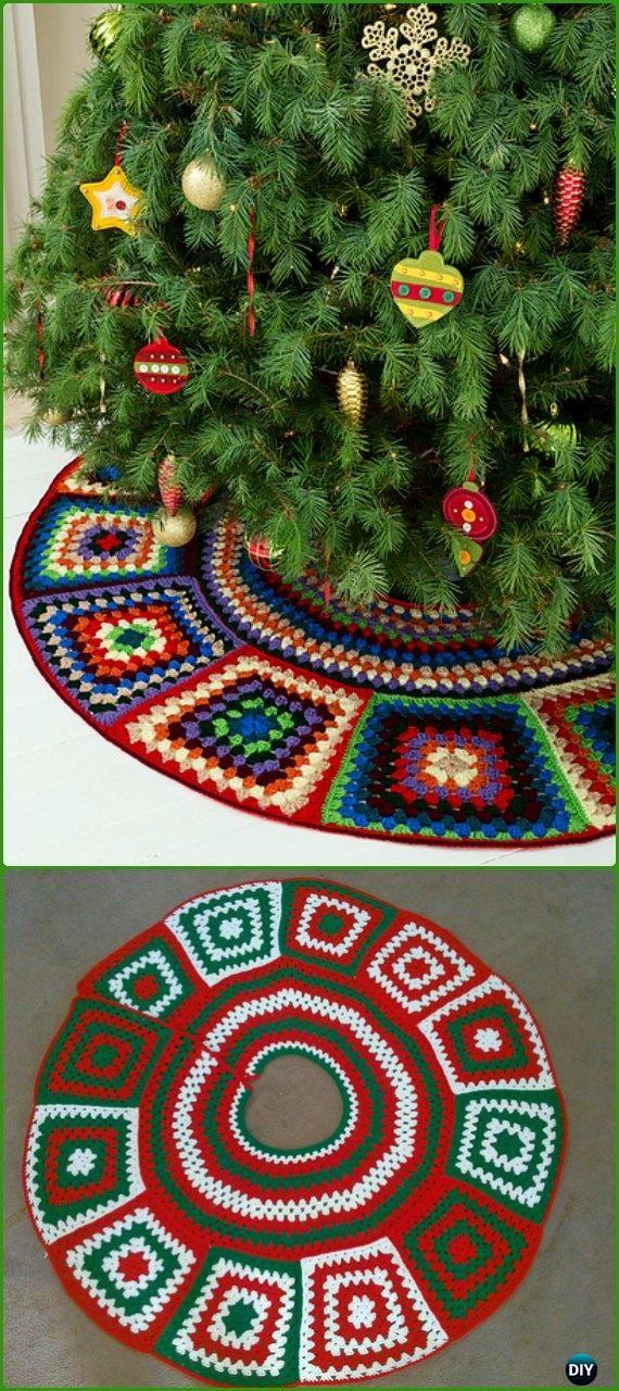 Crochet Granny Tree Skirt Free Pattern Crochet Christmas Tree