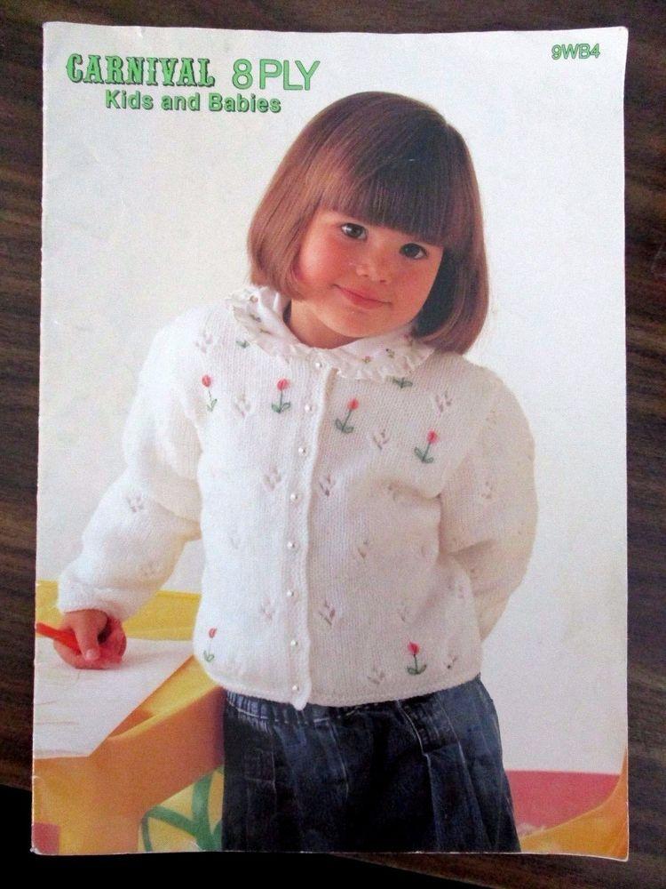 Carnival Kids Babies Knitting Pattern Book 8 Ply No 9wb4 Book