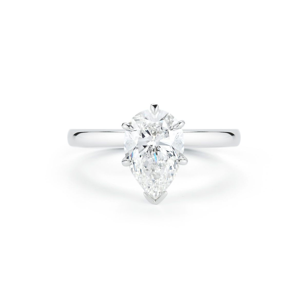 Pear Shape Solitaire Engagement Ring Priced From 5000 Marsh Diamond Solitaire Engagement Ring Solitaire Engagement Ring Settings Oval Diamond Engagement Ring