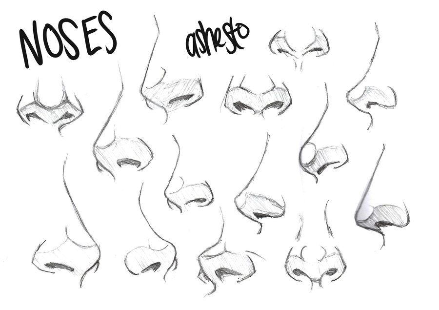 Character Design Noses : Art references character design