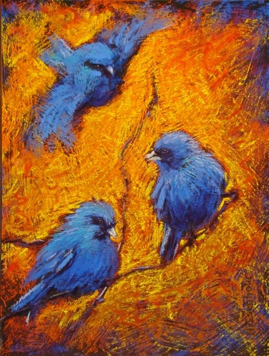 Good Example Of Artist Using Complementary Colors Blue And Orange