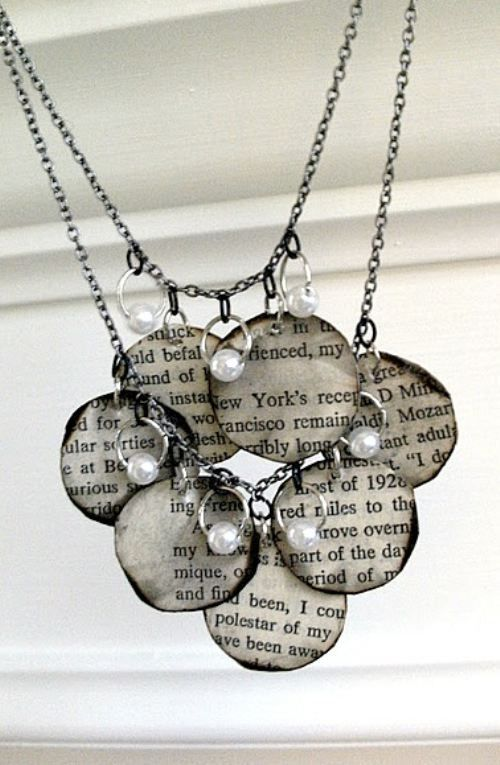 Diy Decoupage Necklace With Words To Your Favorite Song Book Necklace Jewelry Tutorials Jewelry Making