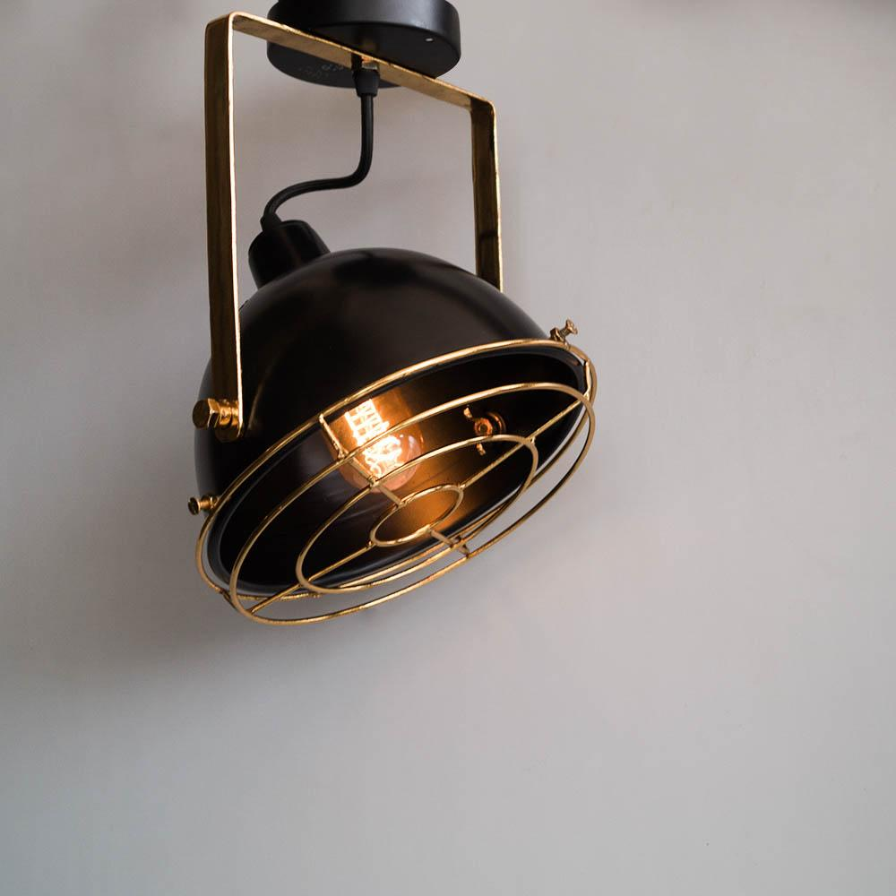 Black Gold Low Ceiling Lamp Vintage