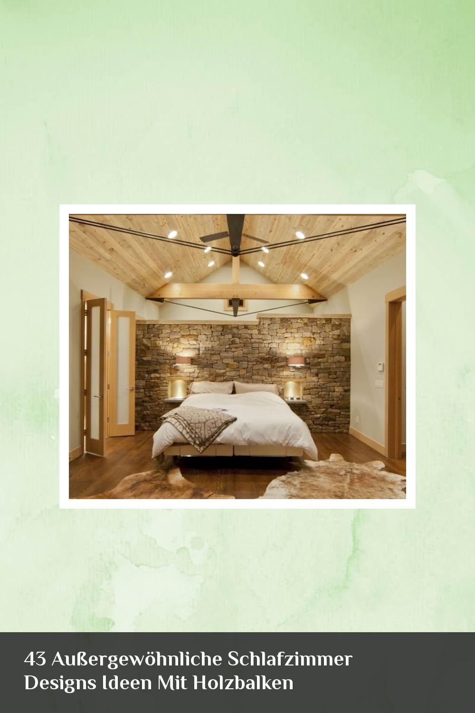 13 Außergewöhnliche Schlafzimmer Designs Ideen Mit Holzbalken ...