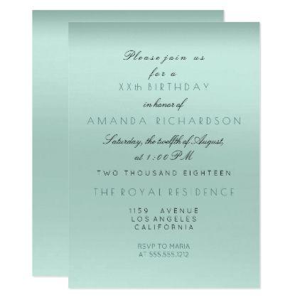 Minimalism tiffany aqua mint bride birthday formal card minimalism tiffany aqua mint bride birthday formal card wedding invitations cards custom invitation card design stopboris Image collections