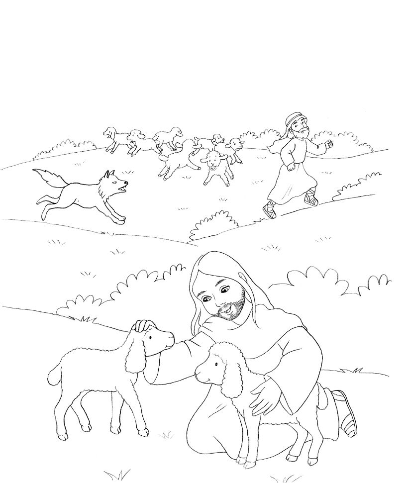 The Good Shepherd (John 10) | Coloring: Bible: NT: Gospels: Parables ...