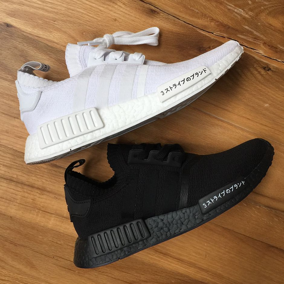 Adidas Nmd R1 Japan Boost Triple Black Triple White With Images
