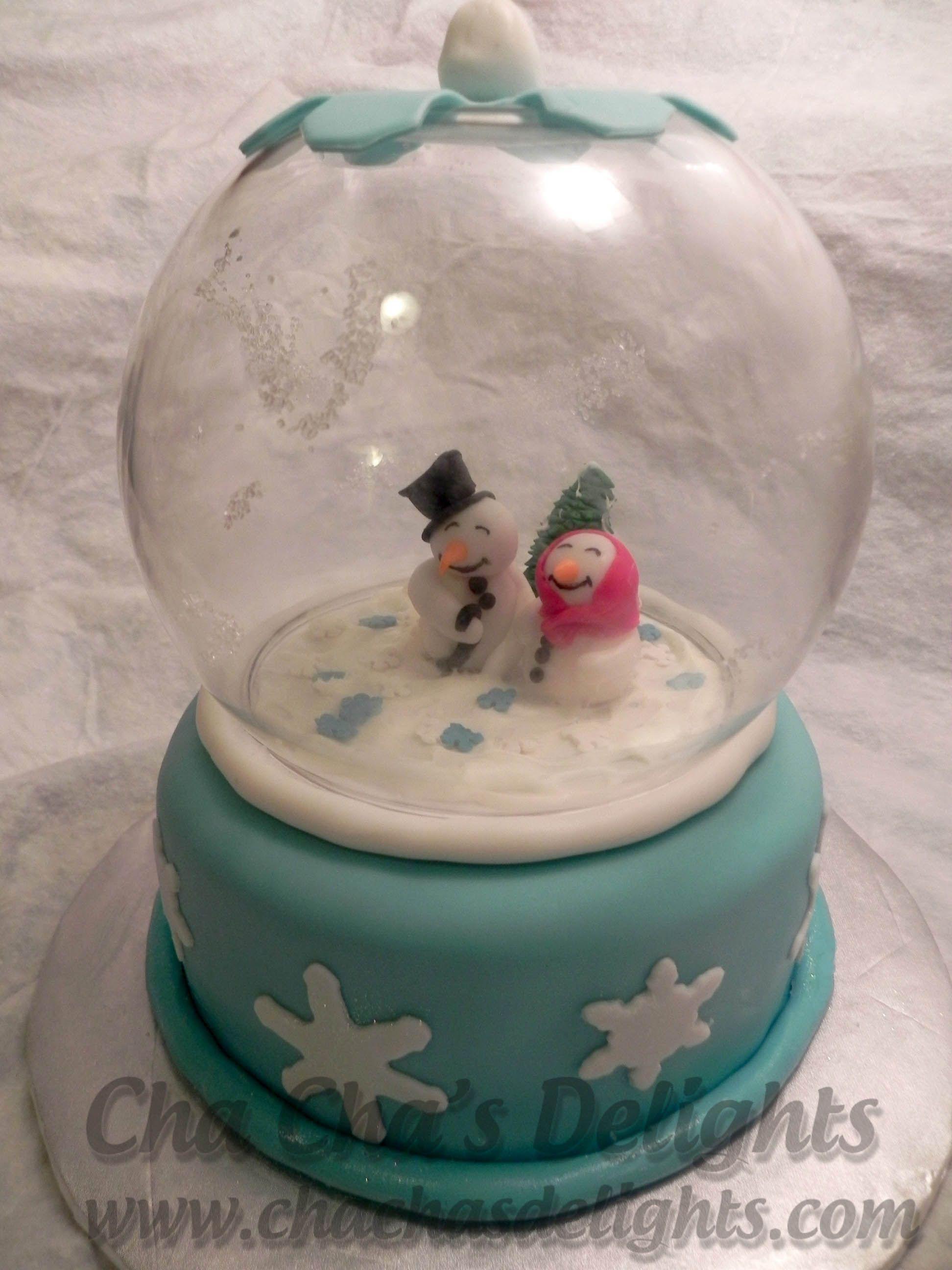 Snowglobe Custom Cake Birthday Cakes Orlando Pinterest Custom