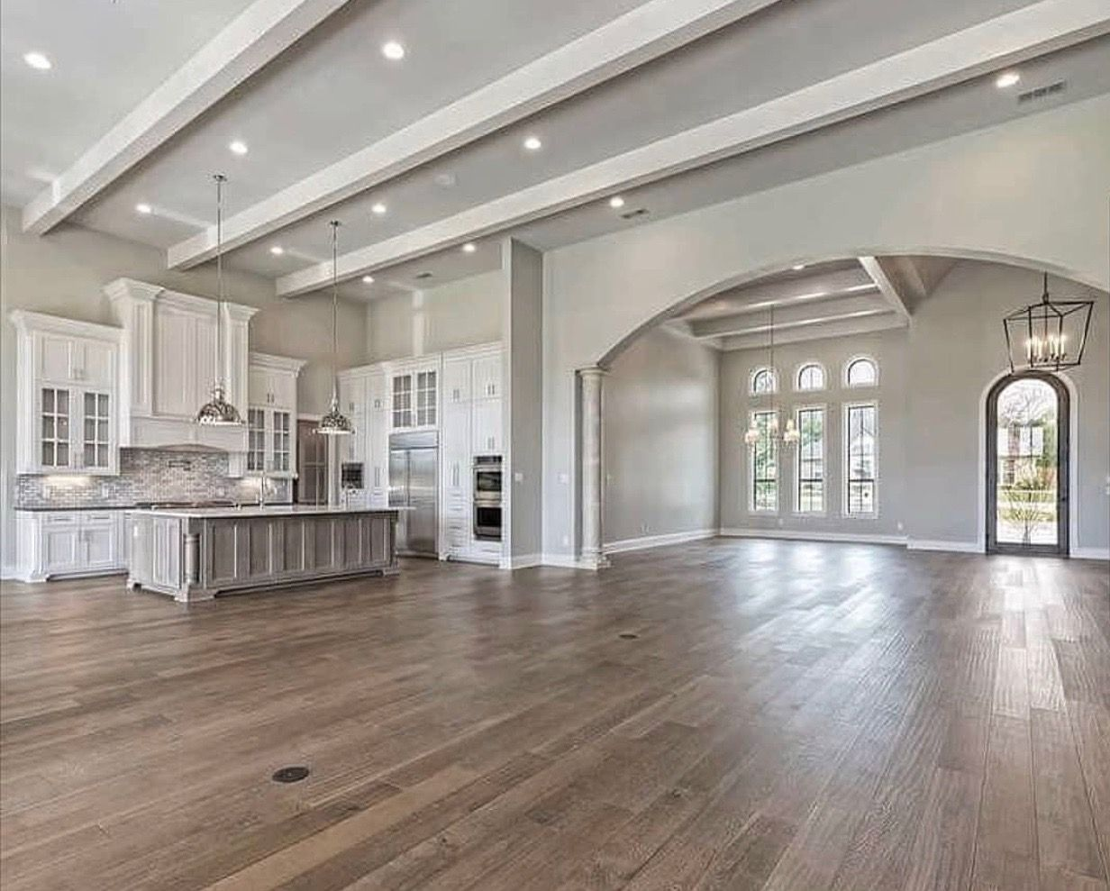 Pin By Valerie Carroll On Homes Dream House Ideas Kitchens Open Concept Floor Plans House Design