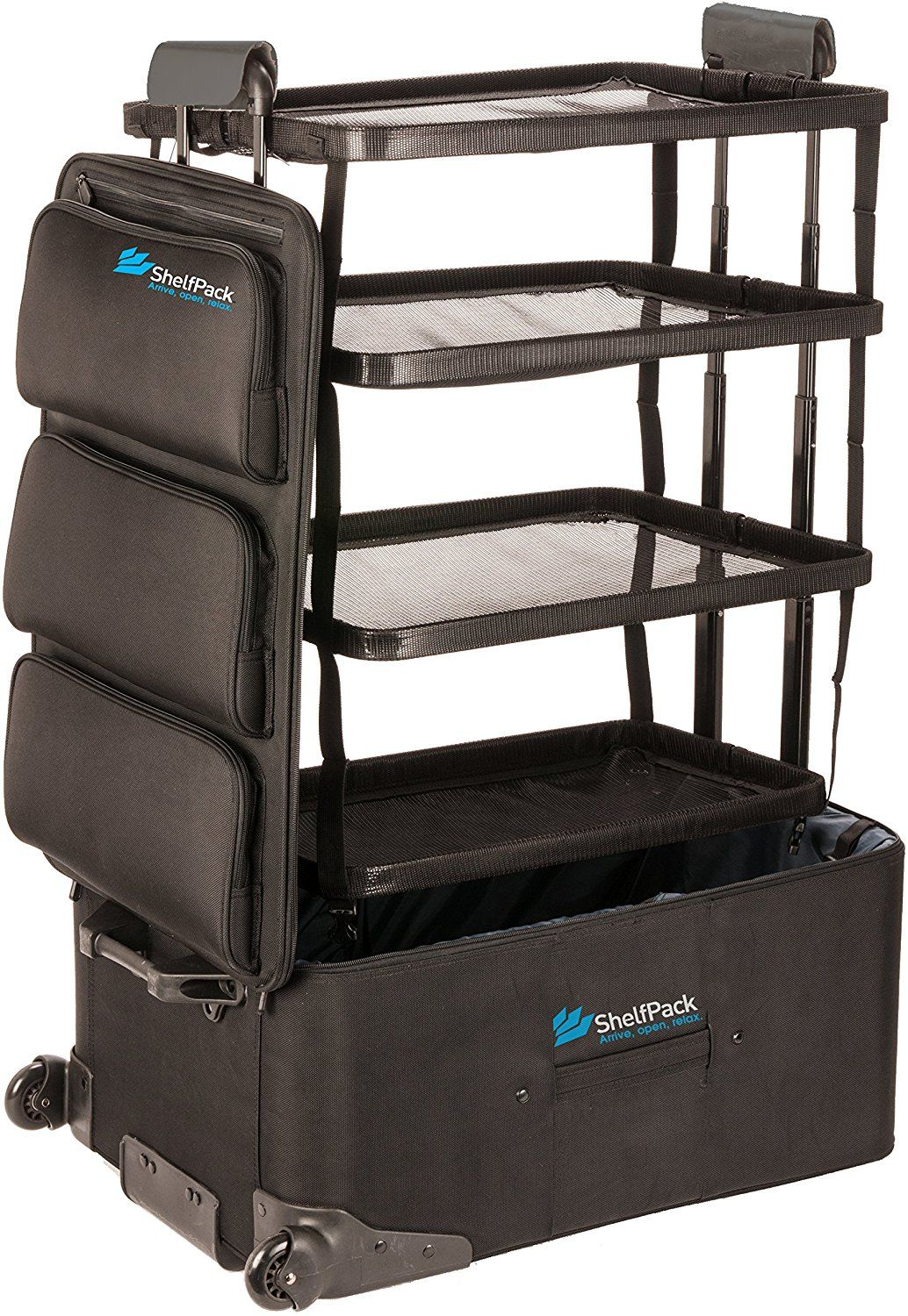 Amazon Com Shelfpack Revolutionary Suitcase With Built In