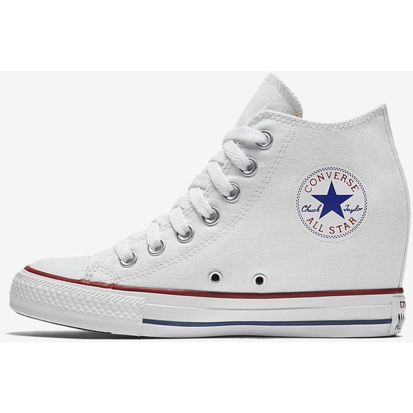 ea856e0ec0ce Converse Chuck Taylor All Star Lux Wedge Mid Women s Shoe. Nike.com ( 50) ❤  liked on Polyvore featuring shoes