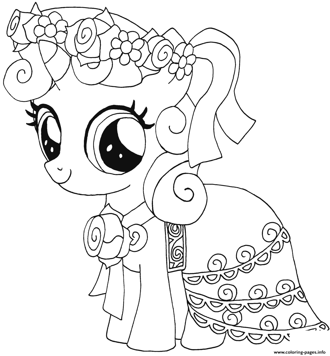 Print Sweetie Belle My Little Pony Coloring Pages My Little Pony Coloring Pony Drawing Horse Coloring Pages