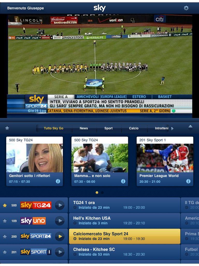 Sky Go Italia Tv Design Sky Go Ux Design