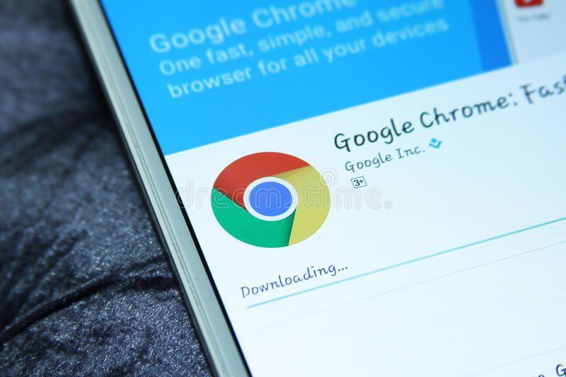 Google chrome web browser mobile app. Downloading google
