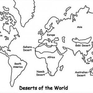 Maps Deserts Of The World Coloring Pages Bulk Color World Map