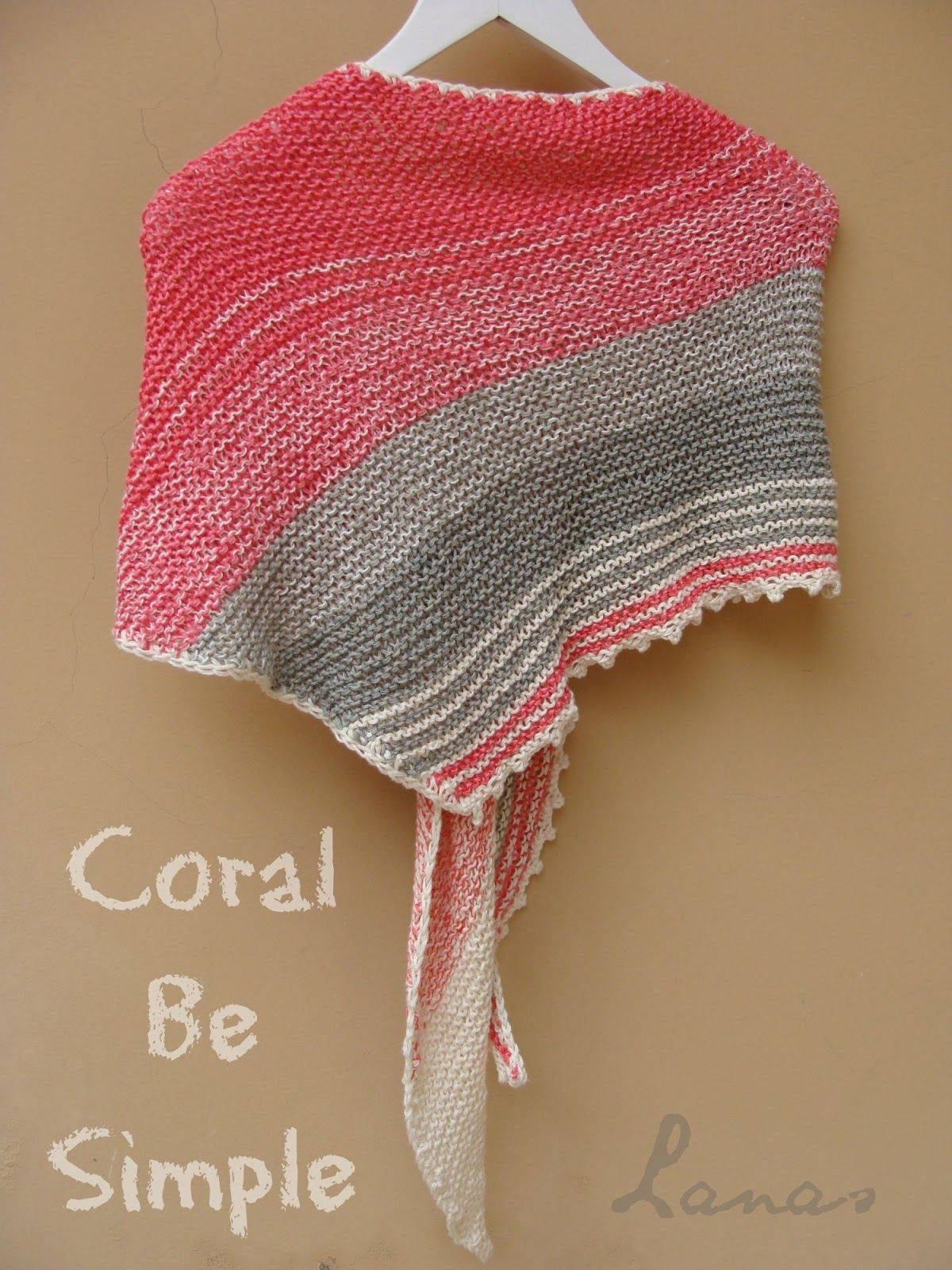 Knit) A summer shawl… Un chal veraniego… The pattern for this shawl ...
