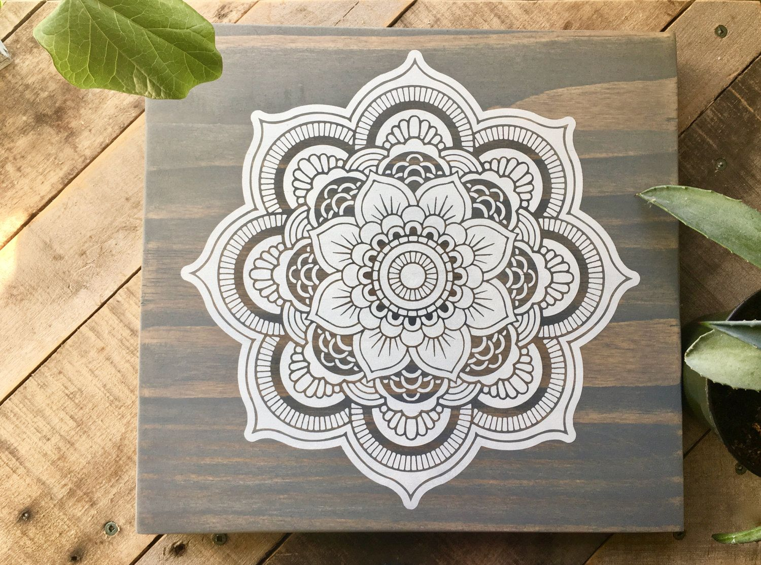 wood wall art mandala painting mandala wall d cor mandala home