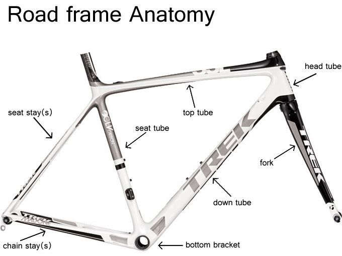basic bicycle anatomy 101 - frame