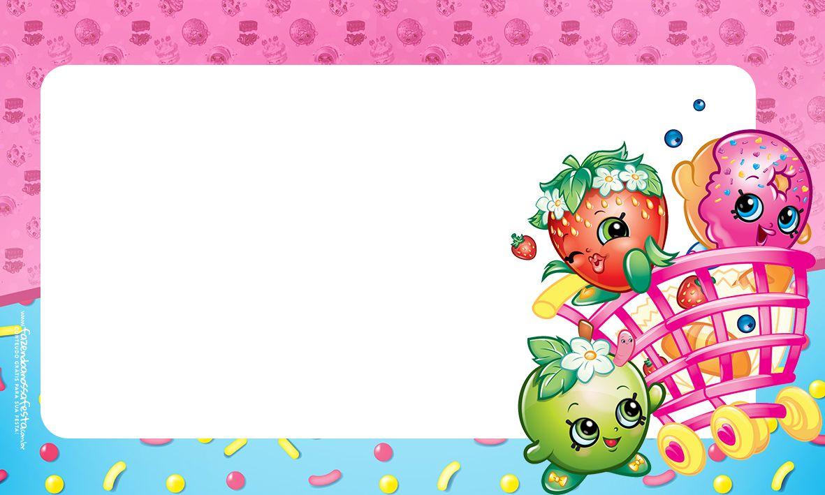Resultado de imagem para convite shopkins | Etiquetas | Pinterest ...