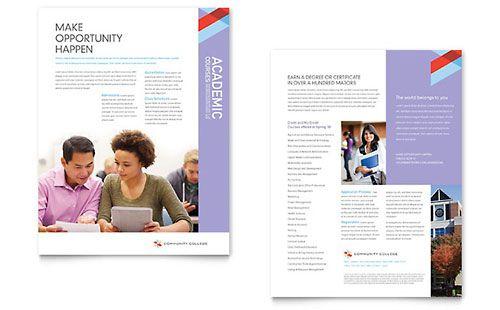 Datasheet Design Inspiration   Pesquisa Google Ref   Datasheets   Sample  College Brochure
