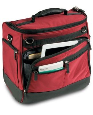 a90b7b347cb Getaway Wheeled Under-Seat Tote - fits under airplane seat. Has wheels and  expandable handle - also will slip on top of extended handle of a suitcase.