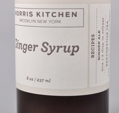 Morris Kitchen Hand Made Ginger Syrup